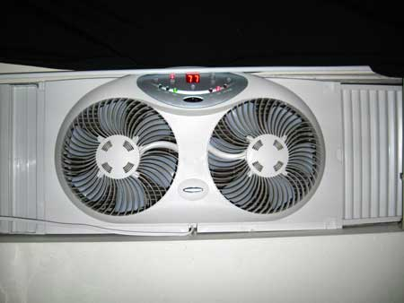 The Bionaire BW2300 Twin Window Fan with Remote Control is available on Amazon.com