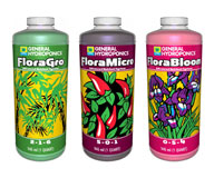 General Hydroponics Flora trio - includes all your base nutrients!