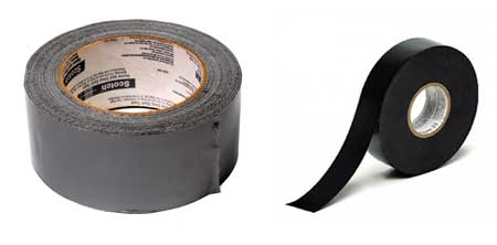 Use duct tape or electrical tape as a